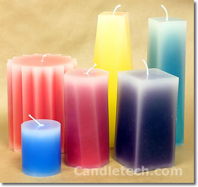 Pillar Candles With Faded Edges Candle Making Techniques