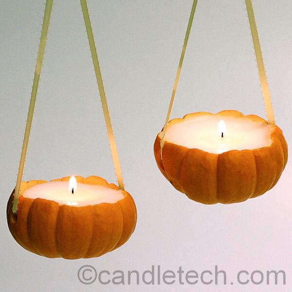 how to make a candle out of a pumpkin